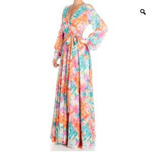 LilyPad Maxi Dress – Rainbow Cloud M